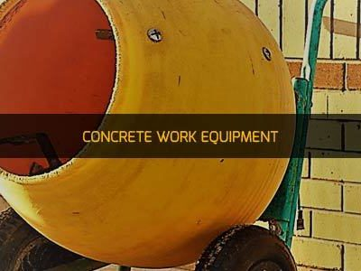 CONCRETE WORK EQUIPMENT RENTAL