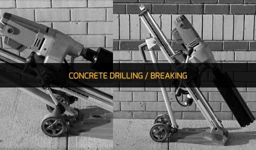 CONCRETE DRILLING/BREAKING EQUIP RENTAL