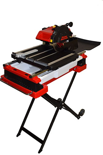 Heavy-Duty 10″ Wet Tile Saw with Stand & Wheels