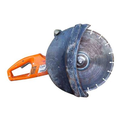 """Electric 14"""" Cut-Off Saw (Strengthen the color on the blade cover and the blade)"""