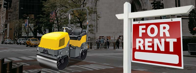 rent a soil compactor in ny